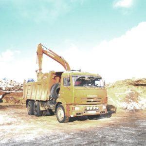 Доставка песка из Тутаевского карьера самосвалом