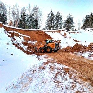 Добыча песка в Некрасовском карьере