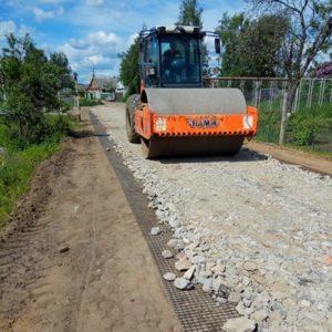 строительство дороги из вторичного щебня